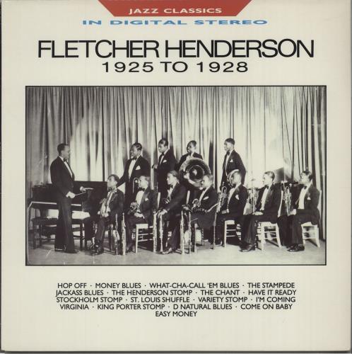 Fletcher Henderson 1925 To 1928 vinyl LP album (LP record) UK FEHLPTO672873