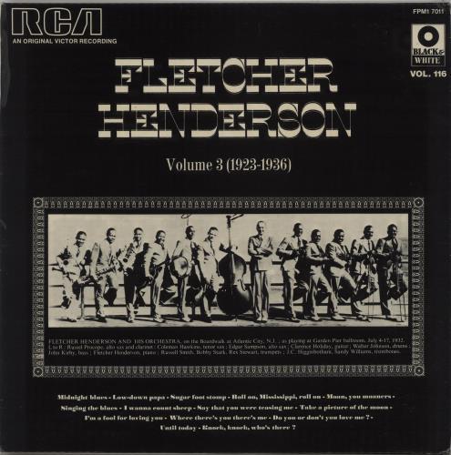 Fletcher Henderson Volume 3 (1923-1936) vinyl LP album (LP record) French FEHLPVO669931