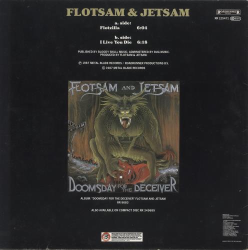 "Flotsam And Jetsam Flotzilla 12"" vinyl single (12 inch record / Maxi-single) Dutch F&J12FL743466"