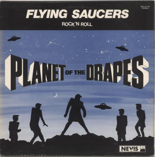 Flying Saucers Planet Of The Drapes vinyl LP album (LP record) UK 7FSLPPL494740