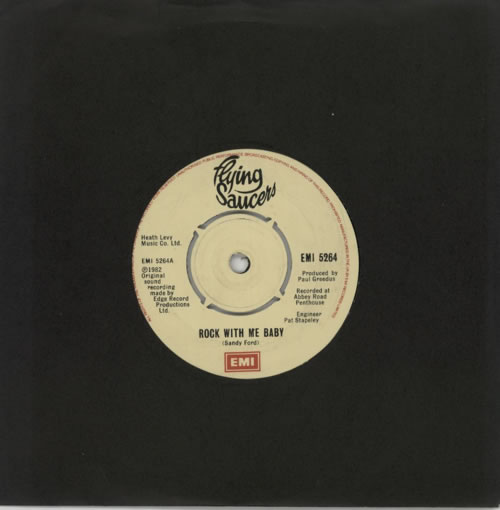"""Flying Saucers Rock With Me Baby 7"""" vinyl single (7 inch record) UK 7FS07RO587577"""