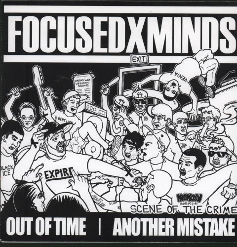 "Focused Minds Scene Of The Crime - Green Vinyl 7"" vinyl single (7 inch record) US IQ707SC656047"