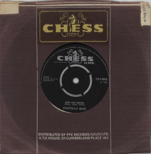 "Fontella Bass Safe And Sound 7"" vinyl single (7 inch record) UK FAI07SA753243"