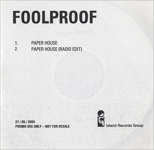 Foolproof Paper House CD-R acetate UK FPFCRPA473546