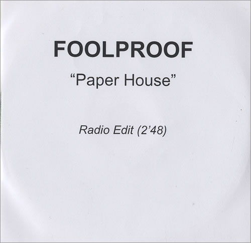 Foolproof Paper House CD-R acetate UK FPFCRPA473754