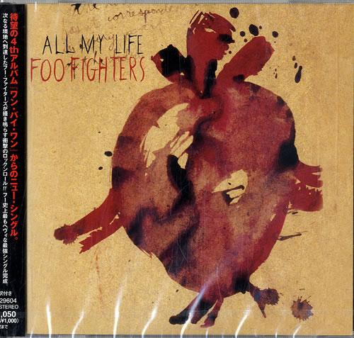 "Foo Fighters All My Life CD single (CD5 / 5"") Japanese FOOC5AL229658"