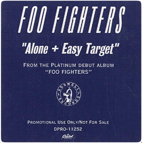 """Foo Fighters Alone + Easy Target CD single (CD5 / 5"""") US FOOC5AL69691"""