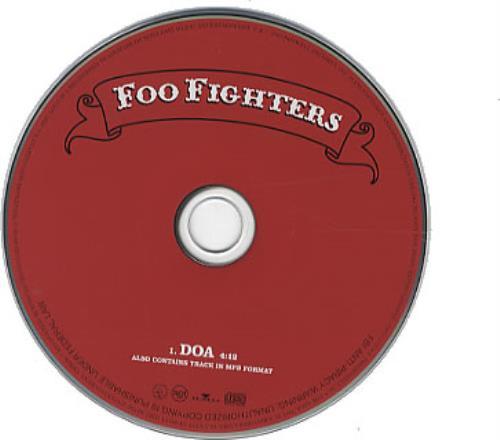 "Foo Fighters DOA CD single (CD5 / 5"") US FOOC5DO337332"