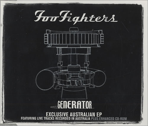"Foo Fighters Generator - Exclusive Australian EP CD single (CD5 / 5"") Australian FOOC5GE154595"