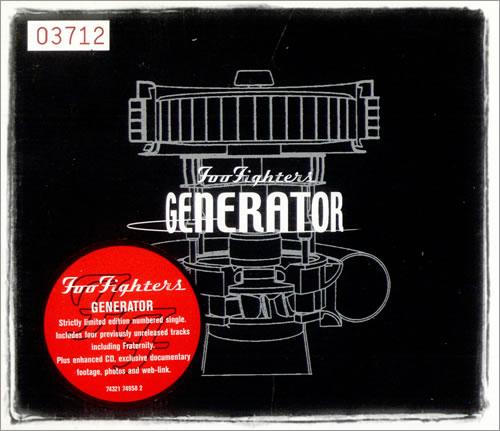 """Foo Fighters Generator CD single (CD5 / 5"""") UK FOOC5GE171048"""