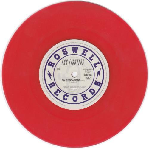 "Foo Fighters I'll Stick Around - Red Vinyl 7"" vinyl single (7 inch record) UK FOO07IL51584"