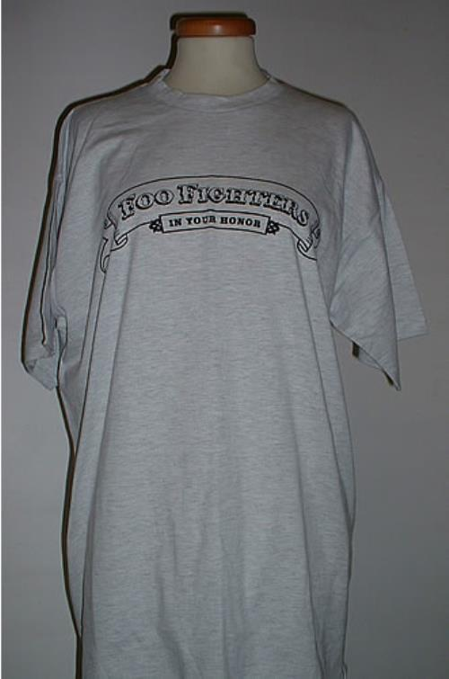 Foo Fighters In Your Honor - Grey - Size L t-shirt UK FOOTSIN331099