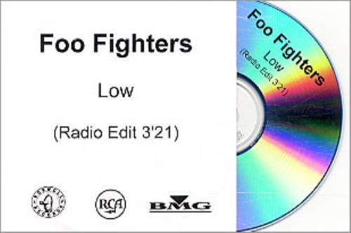 Foo Fighters Low - Radio Edit CD-R acetate UK FOOCRLO248396