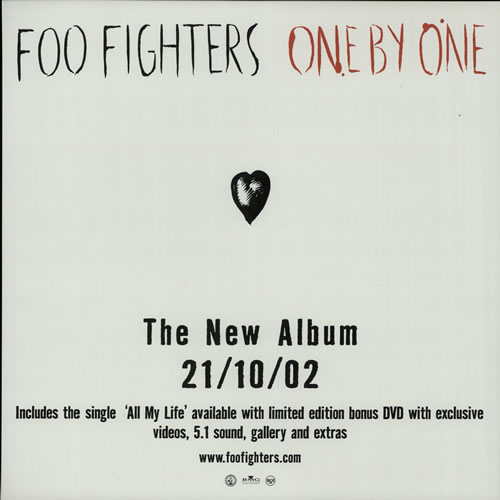 Foo Fighters One By One / All My Life - Displays display UK FOODION632045