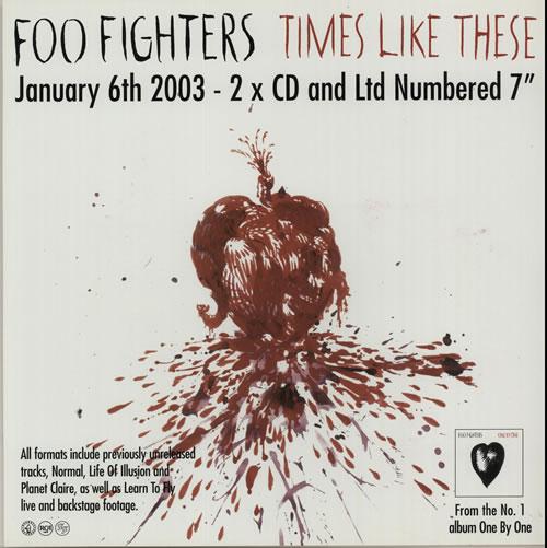Foo Fighters Times Like These display UK FOODITI632196