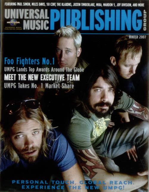 Foo Fighters Universal Music Publishing Group magazine US FOOMAUN548281