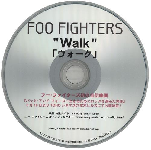 Foo Fighters Walk CD-R acetate Japanese FOOCRWA577696