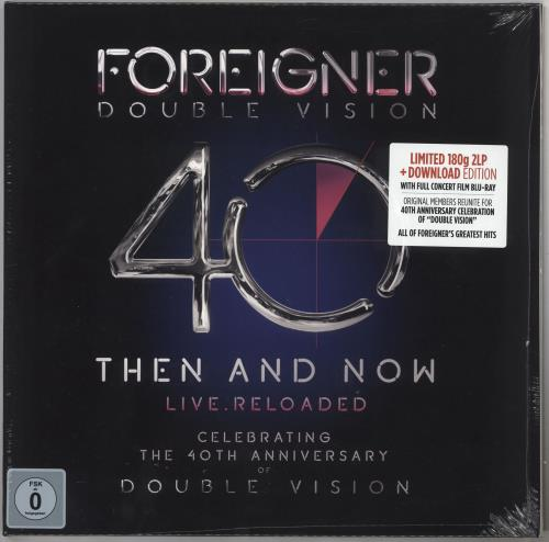Foreigner Double Vision: Then And Now - 180gm Vinyl + Blu-Ray - Sealed 2-LP vinyl record set (Double Album) UK FOR2LDO733826