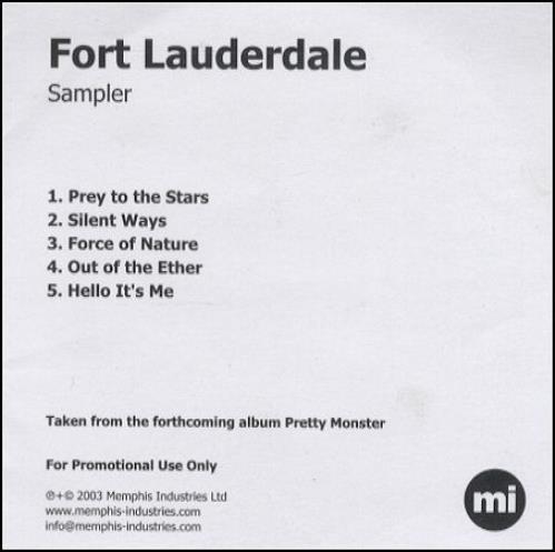 Fort Lauderdale Sampler CD-R acetate UK F\LCRSA255231
