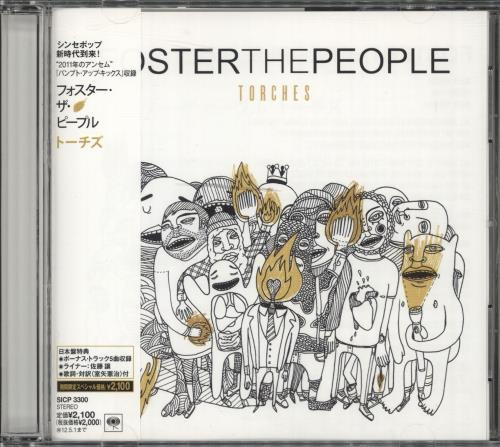 Foster The People Torches Obi Japanese Promo Cd Album Cdlp 561184