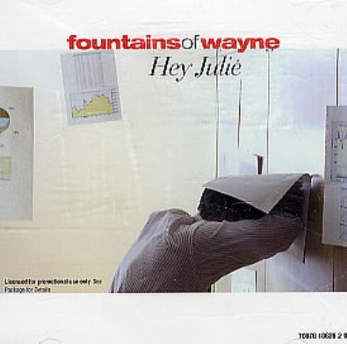 "Fountains Of Wayne Hey Julie CD single (CD5 / 5"") US FOWC5HE295739"