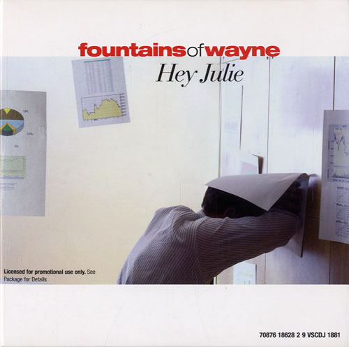 "Fountains Of Wayne Hey Julie CD single (CD5 / 5"") UK FOWC5HE584847"
