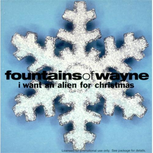 "Fountains Of Wayne I Want An Alien For Christmas CD single (CD5 / 5"") US FOWC5IW424772"