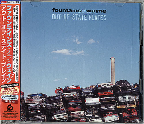 Fountains Of Wayne Out Of State Plates 2 CD album set (Double CD) Japanese FOW2COU323061