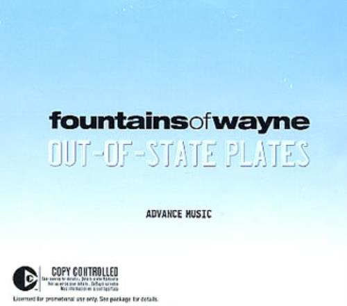 Fountains Of Wayne Out-of-State Plates 2 CD album set (Double CD) US FOW2COU346215