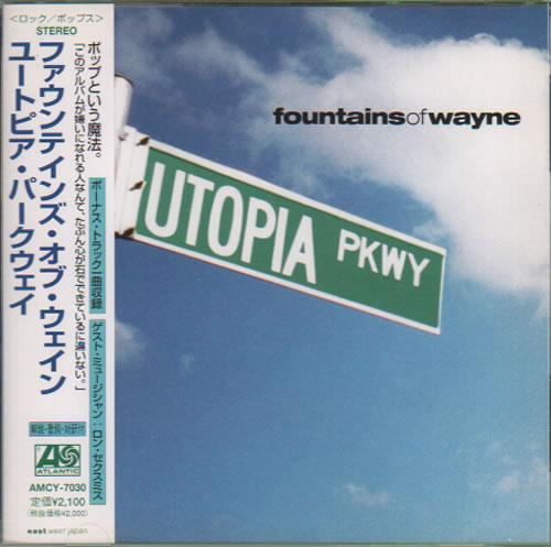 Fountains Of Wayne Utopia Parkway CD album (CDLP) Japanese FOWCDUT634832