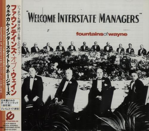 Fountains Of Wayne Welcome Interstate Managers CD album (CDLP) Japanese FOWCDWE646975