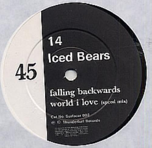"Fourteen Iced Bears Falling Backward 7"" vinyl single (7 inch record) French FIB07FA316148"