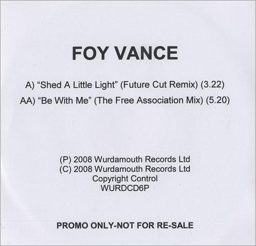 Foy Vance Shed A Little Light - Remix CD-R acetate UK FO4CRSH469169