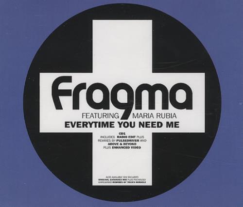 """Fragma Everytime You Need Me - CD1 CD single (CD5 / 5"""") UK FAAC5EV389752"""