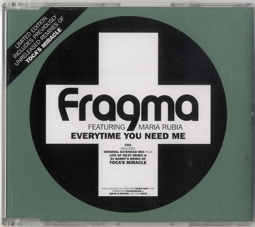 """Fragma Everytime You Need Me - CD2 CD single (CD5 / 5"""") UK FAAC5EV613786"""