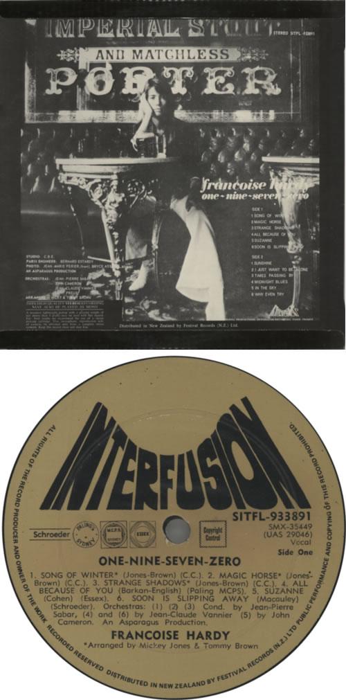 Françoise Hardy One-Nine-Seven-Zero vinyl LP album (LP record) New Zealand FHALPON616374