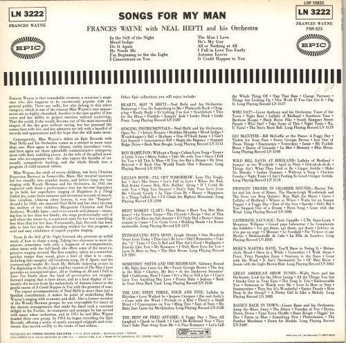 Francis Wayne Songs For My Man vinyl LP album (LP record) Spanish Y9ALPSO711792