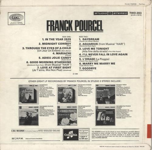 Franck Pourcel Franck Pourcel vinyl LP album (LP record) UK FPELPFR735024