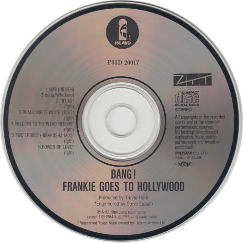 "Frankie Goes To Hollywood Bang - Red Obi Strip CD single (CD5 / 5"") Japanese FGTC5BA20031"