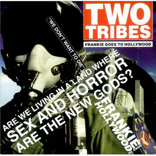 """Frankie Goes To Hollywood Two Tribes - Reissue 7"""" vinyl single (7 inch record) UK FGT07TW49230"""