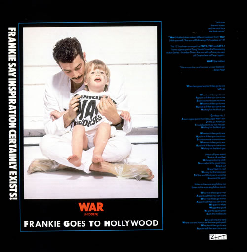 "Frankie Goes To Hollywood War (Hidden) 12"" vinyl single (12 inch record / Maxi-single) UK FGT12WA14139"