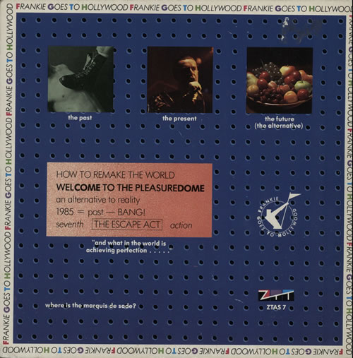 "Frankie Goes To Hollywood Welcome To The Pleasuredome 7"" vinyl single (7 inch record) UK FGT07WE22077"