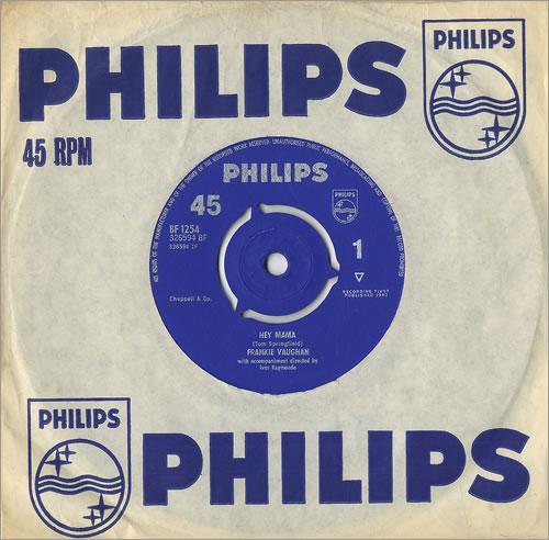"Frankie Vaughan Hey Mama 7"" vinyl single (7 inch record) UK KVU07HE491393"