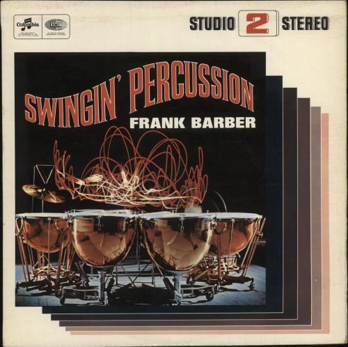 Frank Barber Swingin' Percussion vinyl LP album (LP record) UK HTBLPSW721009