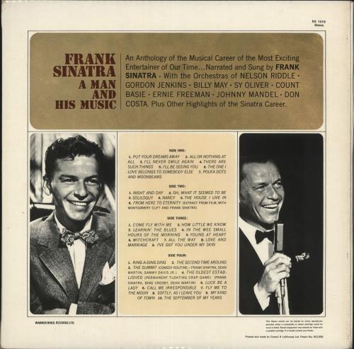 Frank Sinatra A Man And His Music - tan label 2-LP vinyl record set (Double Album) UK FRS2LAM730918