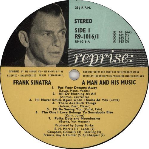 Frank Sinatra A Man And His Music 2-LP vinyl record set (Double Album) UK FRS2LAM411892