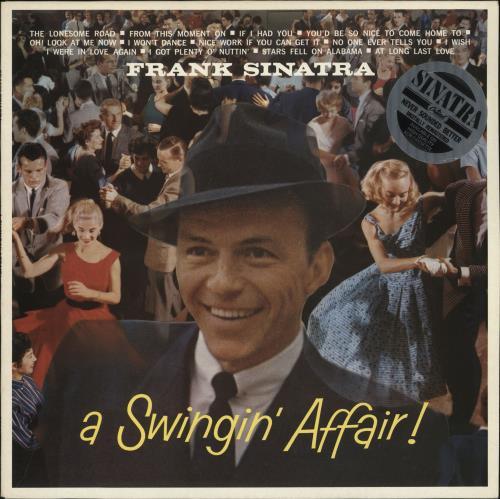 Frank Sinatra A Swingin' Affair - stickered p/s vinyl LP album (LP record) UK FRSLPAS394876