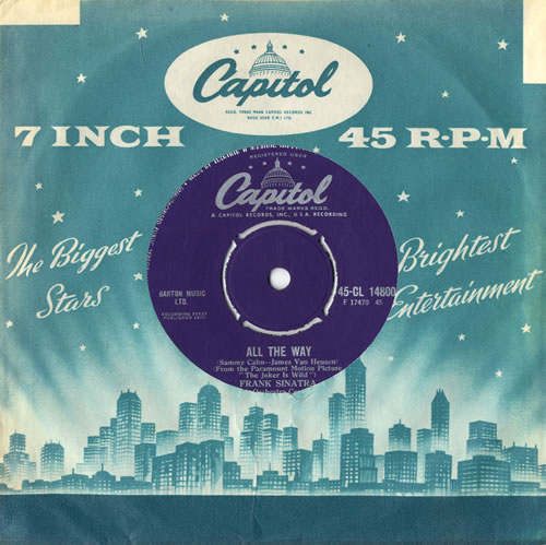 "Frank Sinatra All The Way 7"" vinyl single (7 inch record) UK FRS07AL562451"