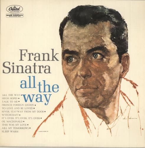 Frank Sinatra All The Way vinyl LP album (LP record) Italian FRSLPAL693405