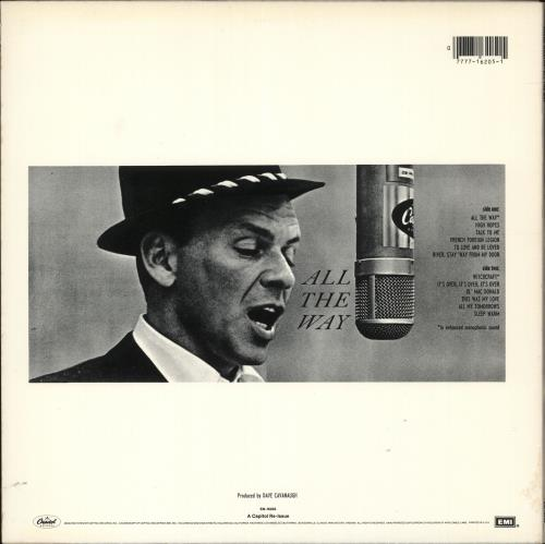 Frank Sinatra All The Way vinyl LP album (LP record) US FRSLPAL724039
